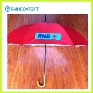 Customized Advertising Promotion Wooden Handle Umbrella pictures & photos