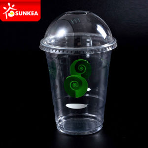 Disposable Clear PP / Pet Plastic Soft Drinking Juice Cup