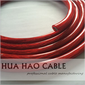 Red Transparent PVC Jacket Copper/CCA 0AWG-10AWG AC Power Cable pictures & photos