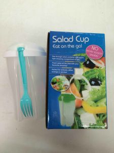 Plastic Product Food Salad Container with Cover