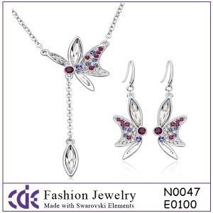 Costume Fashion Crystal Jewelry Set N0047 E0100