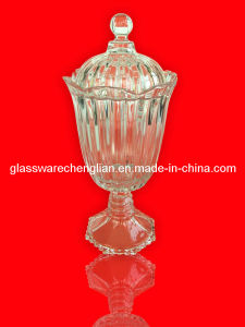 Crystal Glass Candy Jar /Storage Jar (J-HG10) pictures & photos