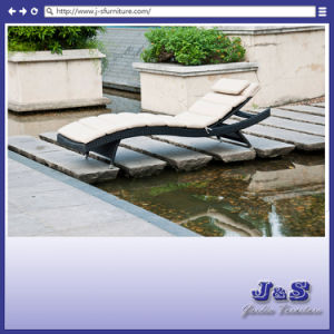 New Design Outdoor Patio Furniture, Brown Wicker Pool Sun Chaise Lounge Chair (J4285)