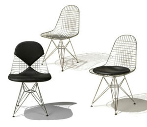 YJM007 Eames Dsr Wire Chair, Metal Chair, Chrome Chair