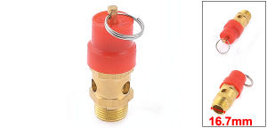 Air Compressor 16.7mm Male Thread Safety Pressure Relief Valve pictures & photos
