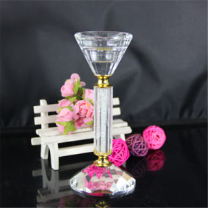 Crystal Candle Holder with Small Diamond