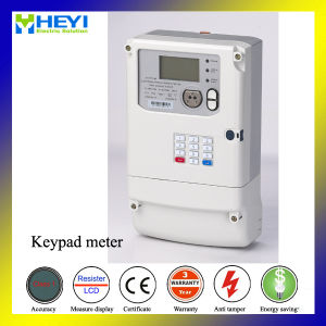 Keypad Prepayment Electronic Energy Meter Three Phase Four Wire Outdoor pictures & photos