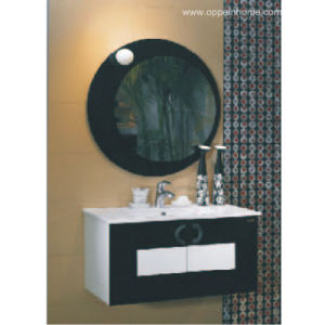 Lacquer Black Painting Bathroom Cabinets (OP-W1111)