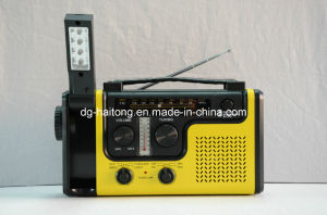 Solar Hand Crank Radio with Flashlight &Table Lamp Ht-998wb pictures & photos