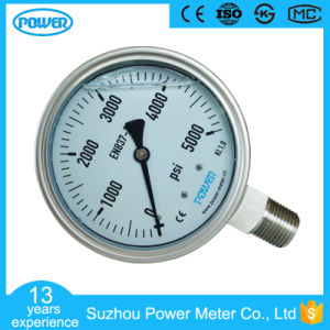 4 Inch 100mm Glycerine Filled Stainless Steel Pressure Gauge pictures & photos