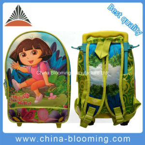 Kids Rolling Wheeled Trolley Back to School Backpack Bag pictures & photos
