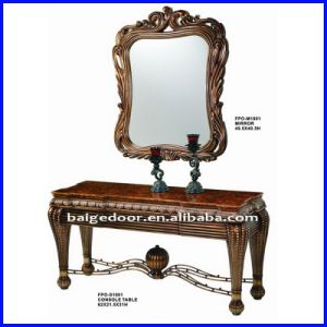Antique Wooden Console Table with Mirror S-1801#