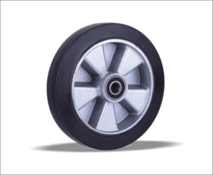 Rubber Wheels with Aluminum Center pictures & photos