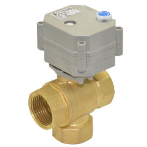 3way 1′′ Electric Control Valve with Mannual Operation (T25-B3-B) pictures & photos