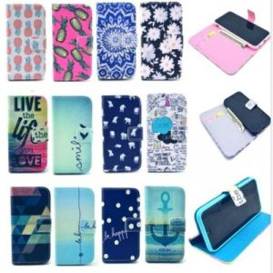 Cute Painted PU Flip Cover Case for iPhone 6 Plus