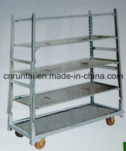 Zinc Plated Display Flower Trolley Mesh Rack Tool Cart pictures & photos