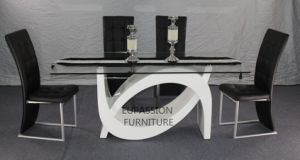 Modern High Glossy Glass Dining Table