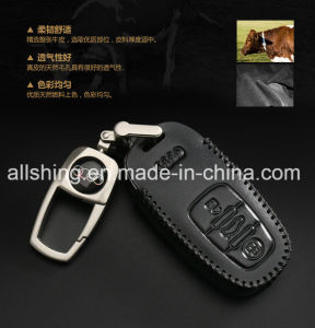 China Leather Car Key Chain Coin Holder Remote Bag For Audi China