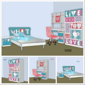China New Design Wooden Set Children Bedroom Furniture Kids Cartoon