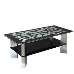 Tempered Gl Coffee Table Aluminum