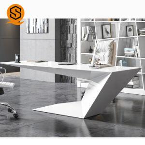 China Unique Design White Solid Surface Furniture Office Desk Manager Solid Surface Office Desks China Office Desk Office Desk Modern