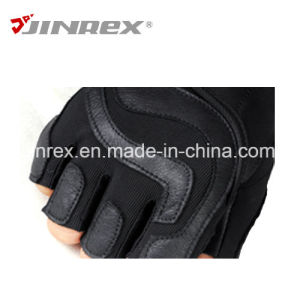Gym Training Half Finger Fitness Leather Weight Lifting Sports Gloves pictures & photos