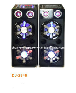 Big Power Professional Stage Speaker with Mixer EQ+Woofer Active Lights (DJ-2846)