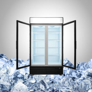 Double Glass Door Beverage Chiller pictures & photos