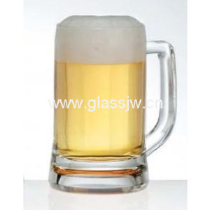 143mm Height Clear Beer Mug 420ml Capacity, OEM Service Provided