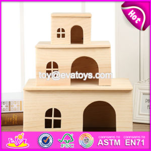 New Products Three Sizes Animals Accessories Natural Wooden Hamster Cages for Sale W06f019 pictures & photos
