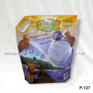 Stand up Plastic Cat Litter Bag with Handle Hole pictures & photos