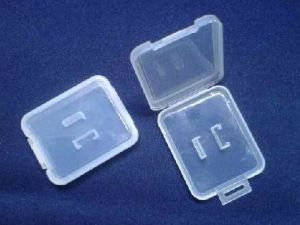 Foldable Plastic Memory Card Case