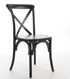 Black X-Back Stacking Chairs