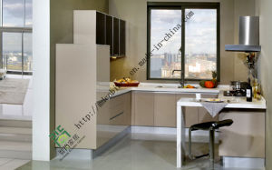 Modern Solid Wood Kitchen Cabinet (ZS-145)