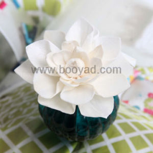 Rice paper flowers blue nymphea lotus flower watercolor painting on aroma diffuser flower rice paper plant mightylinksfo