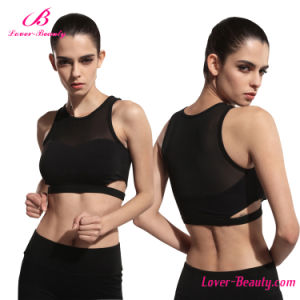 Factory Price Women Black Mesh Sports Wear Yoga Bra