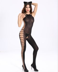 Sexy Ladies Mesh Cat Woman Bodystocking with Side Hollow out pictures & photos