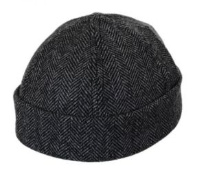6 Panel Skull Herringbone Cap