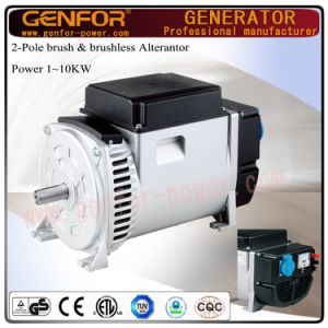 5kVA Hot Sale Double-Bearing Alterantor with Brush AVR Battery Charge, Electric