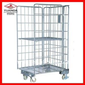 Wire Mesh Roll Cage Container for Warehouse Storage pictures & photos