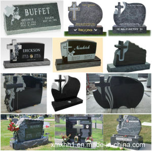 European Customized Carving Granite Cross Tombstone Slab pictures & photos