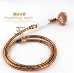 New Design Ceramic Single Handle Zf-609-1 Antique Brass Rain Shower Set pictures & photos