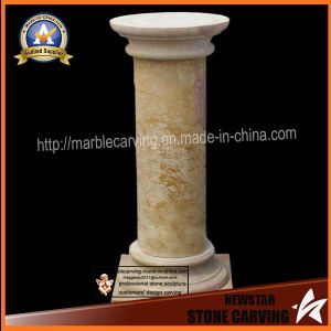 Yellow Round Pillars for Pedestal Home Decoration pictures & photos