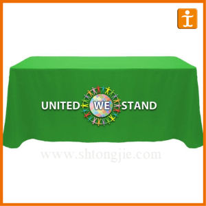 Durable Advertising Polyester Table Cloth (TJ-13) pictures & photos