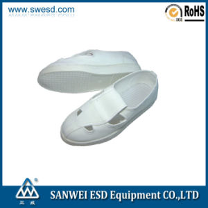 ESD 4- Hole Leather Shoes (3W-9105) pictures & photos