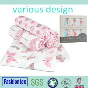 Baby and Childrens Products Bamboo Muslin Jacquard Blanket pictures & photos