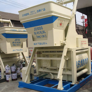 Environmental Protection Js1000 (40-50m3/h) Concrete Mixer Machine with Lift pictures & photos