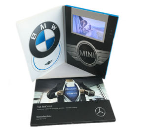 Business Gift Use Video Brochure 5 Inch LCD / TFT Screen Video Greeting Card 128MB with 3 Buttons pictures & photos