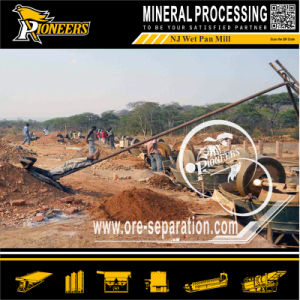 Rock Gold Ore Mineral Milling Process Wet Pan Mill for Gold