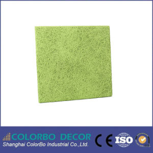 New Soundproof Material Wood Wool Decorative Acoustic Wall Panel pictures & photos